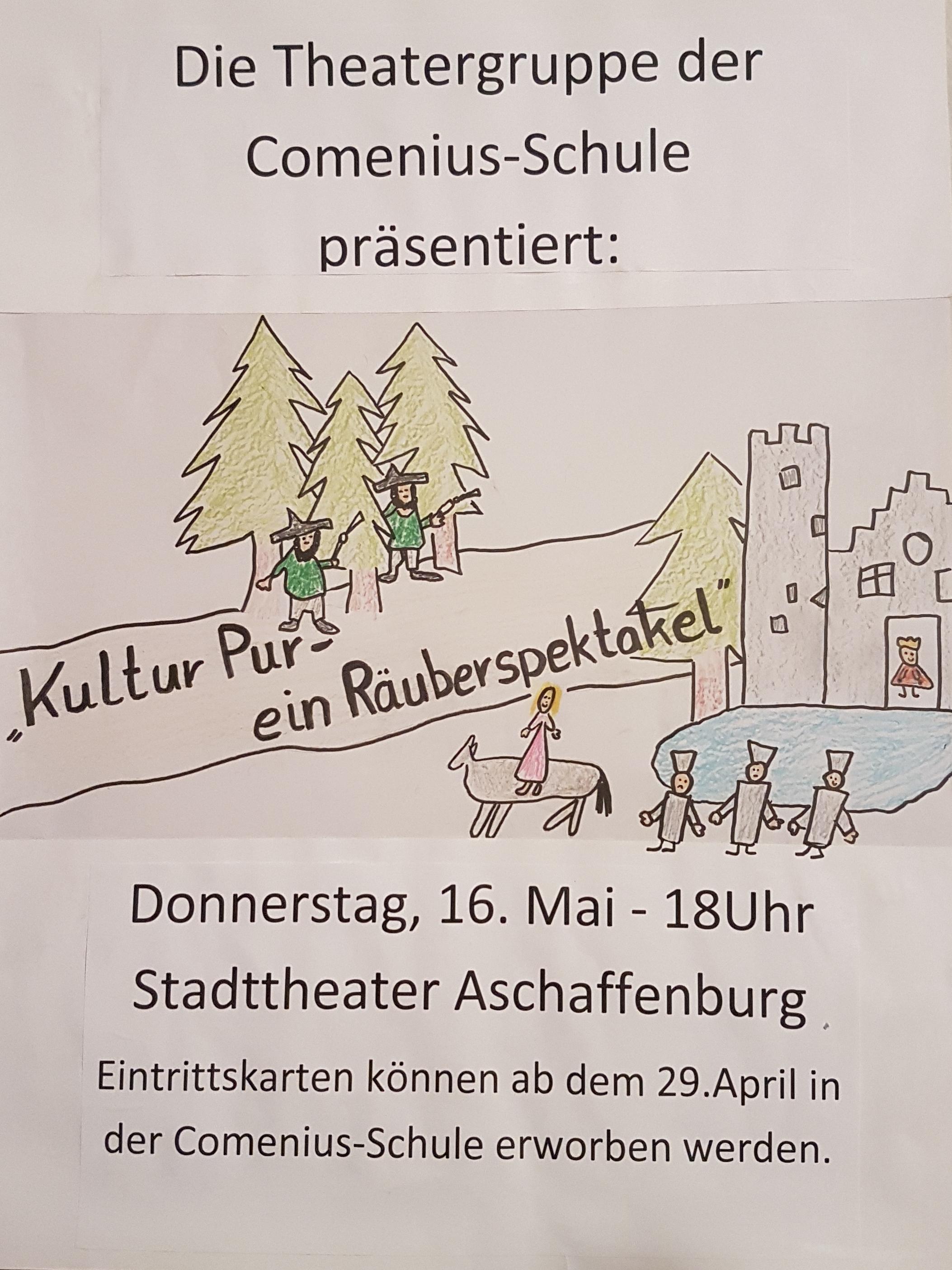 Theateraufführung der Theater-AG der Comenius-Schule im Stadttheater @ Stadttheater Aschaffenburg